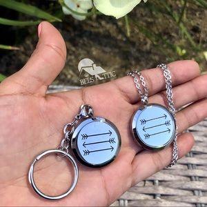 Jewelry - Aromatherapy 3 Arrow Necklace and Keychain Set